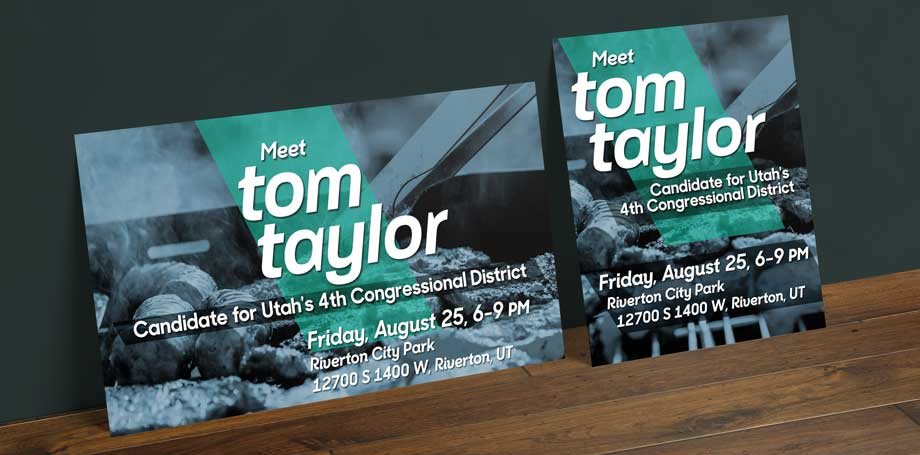 campaign barbecue flyer political event